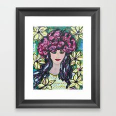 Flowering Girl in Yellow Framed Art Print