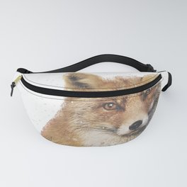 Arctic Snow Red Fox Fanny Pack