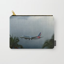 Prearing For Landing On Miami Airport Carry-All Pouch