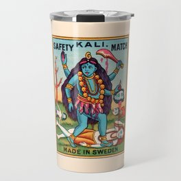 Kali Hindu Goddess Devi Shakti Matches Vintage Graphic Travel Mug