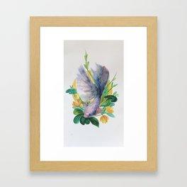 kerberos [betta fish illustration] Framed Art Print