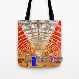 Paddington Railway Station Pop Art Tote Bag