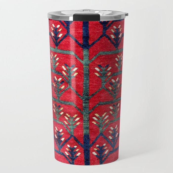 Tree Kazak Southwest Caucasus Rug Print Travel Mug