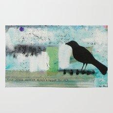 Blackbird singing Rug