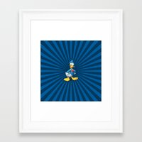 donald duck Framed Art Prints featuring Donald - The Duck by applerture