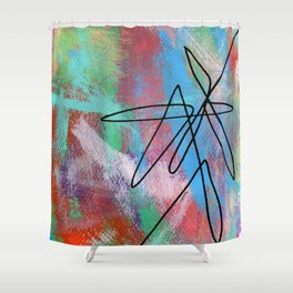 Abstract Modern - Where Is Your Passion? no.5 Shower Curtain