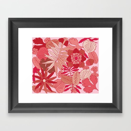 Botanic in Rose Framed Art Print