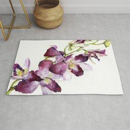 Radiant Orchids: Magenta Dendrobiums Rug