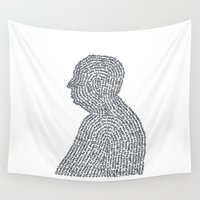 hitchcock Wall Tapestries featuring Hitchcock by S. L. Fina