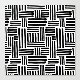 Abstract Geometric Line Pattern Canvas Print
