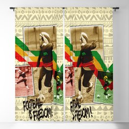 Football is freedom Blackout Curtain