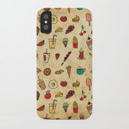 Food Love Pattern iPhone Case