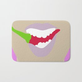 Hot Chili Mouth Flat Graphic Bath Mat