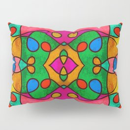 Abstract Doodle Pattern Pillow Sham