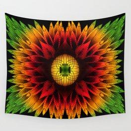 Vibrant Rasta Mandala Wall Tapestry