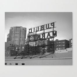 Public Market -- Seattle Canvas Print