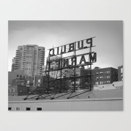Public Market -- Seattle Canvas Print