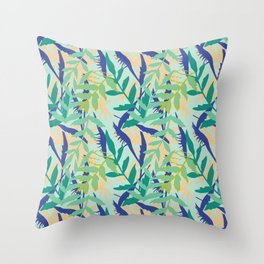 Rotorua Foliage Throw Pillow