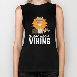 Brave like a Viking T-Shirt for all Ages Dzbpw Biker Tank