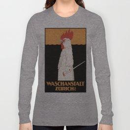 Vintage poster - Waschanstalt Zurich Long Sleeve T-shirt