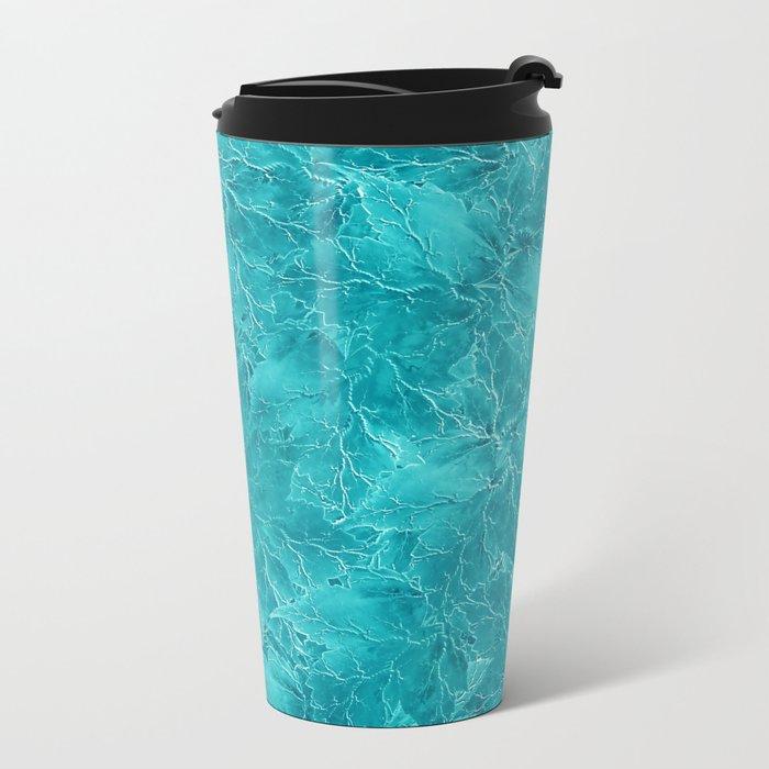 Frozen Leaves 21 Metal Travel Mug