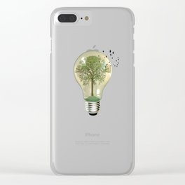 green ideas Clear iPhone Case