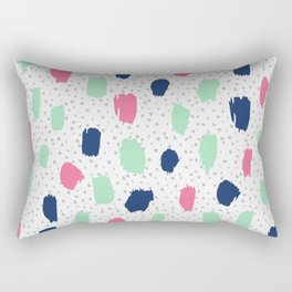 Pink blue brush strokes pattern Rectangular Pillow