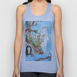 Meeting in the mist Unisex Tank Top