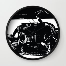 Camera mantel Wall Clock