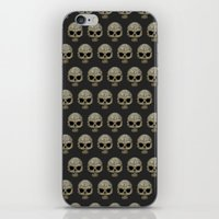 polkadot iPhone & iPod Skins featuring Odd Skull Polkadot by Luke Clark