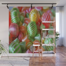 Multi-Colored Striped Candy Wall Mural