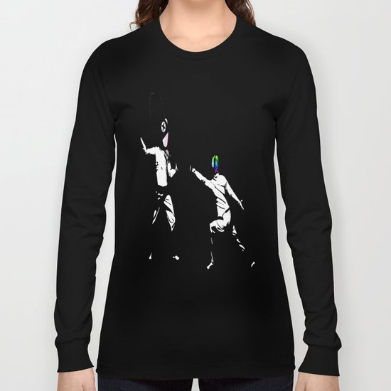 music battle fencing Long Sleeve T-shirt