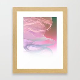 Flow Motion Vibes 1. Pink, Violet and Grey Framed Art Print