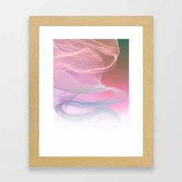 Flow Motion Vibes 1. Pink, Violet and Grey Framed Art Print