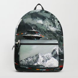 Panoramic View Of Mountain Everest Backpack