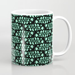 Fish Tails Oceanic Cool Mint Green Turquoise Green Bubbles Abstract Spirit Organic Coffee Mug