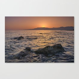 At sunset . Mediterranean Sea. Spain Canvas Print