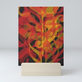 Red Yellow Black Simphony II Mini Art Print