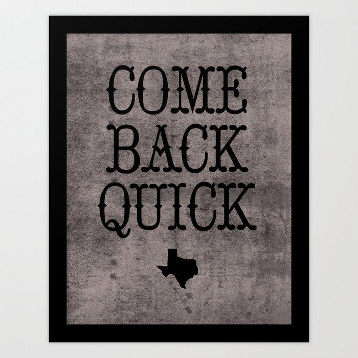 Dear Texas Art Print
