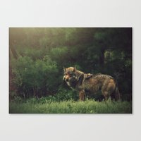 bad wolf Canvas Prints featuring Bad Wolf by Monster Brand