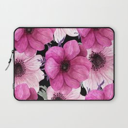 Elegant Floral Pageantry in Pretty Pink Pattern Laptop Sleeve