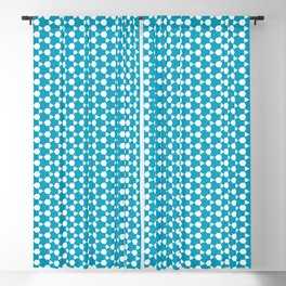 Abstract Turquoise Pattern 1 Blackout Curtain