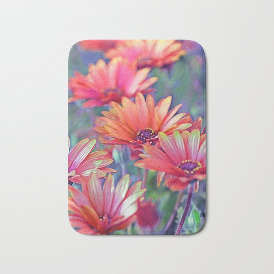 Vintage asters (2) Bath Mat