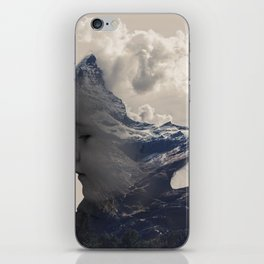 Baby Mountain - Double Exposure Poster iPhone Skin