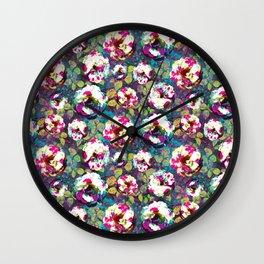 Paintsplat floral Wall Clock