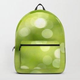 green bokeh Backpack