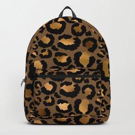 Leopard Metal Glamour Skin Backpack