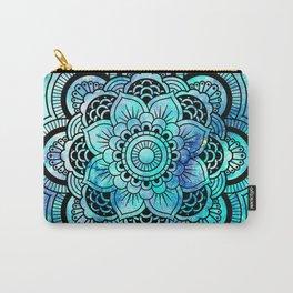 Galaxy Mandala Aqua Indigo Carry-All Pouch