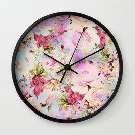 floral romance Wall Clock