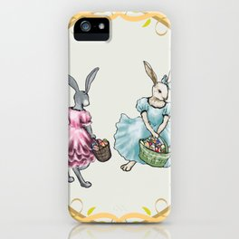 Dressed Easter Bunnies 2 iPhone Case
